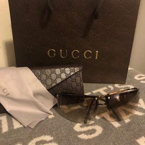 💯% Authentic Gucci Aviator style Brown Sunglasses